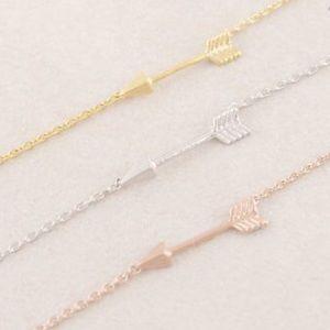 2/$10 💕 Simple Rose Gold Plated Arrow Bracelet